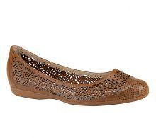 Sapatilha de couro marrom com recortes a laser   Sapatilhas   Bottero Calçados