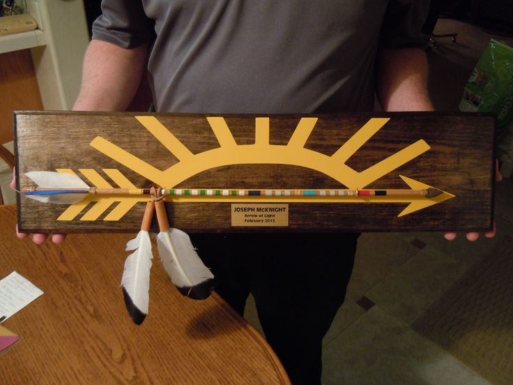 Arrow of Light plaque (gonna try it for my patrol)