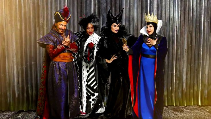 "Jafar, Cruella de Vil, Maleficent, and the Evil Queen from ""Descendants"" (2015)"