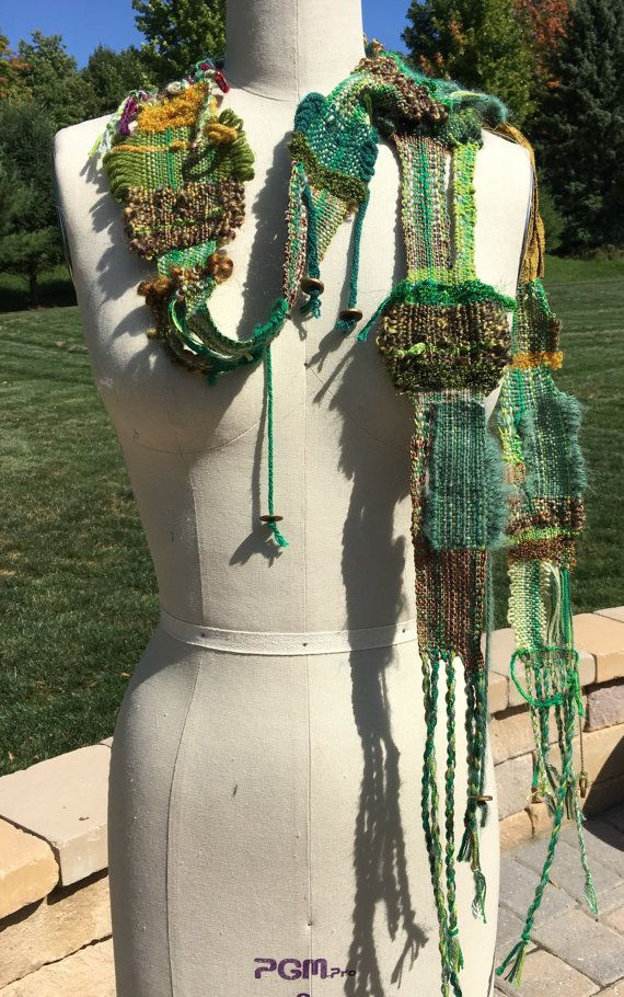 Hand Woven Scarves by HauteMade on Etsy