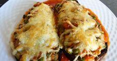 Berenjenas rellenas con champiñones y verduras - Mis Cosillas de Cocina