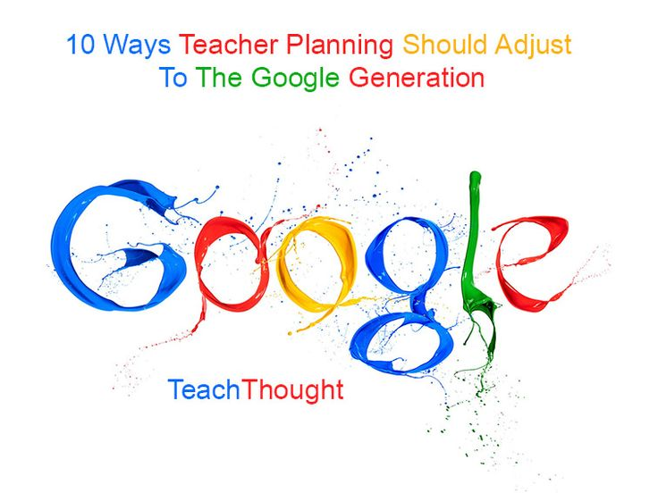 10 Ways Teacher Planning Should Adjust To The Google Generation. Like the fact that it contains several concrete suggestions.
