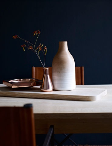 leather, copper, indigo - keuken???!!!