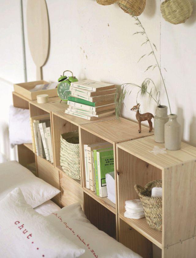 tete de lit bibliotheque. Black Bedroom Furniture Sets. Home Design Ideas
