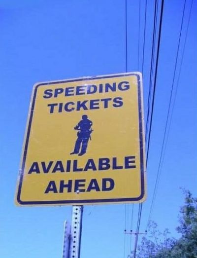 If only they actually had warning signs like this. I would have to think twice.