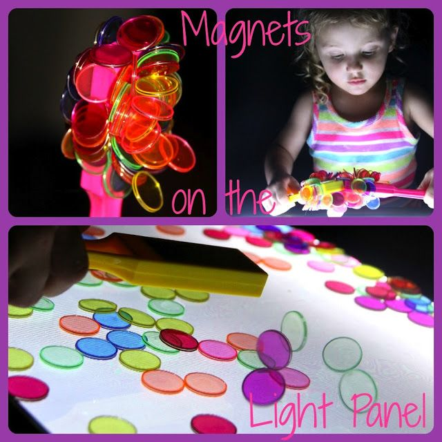 Four Little Piglets: MAGNETS ON THE LIGHT PANEL