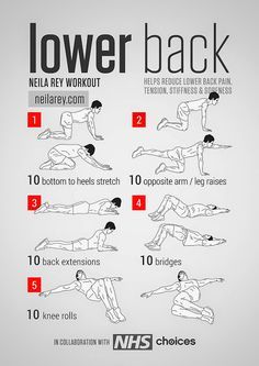 Lower Back Workout Helps reduce lower back pain, tension, stiffness & soreness.…