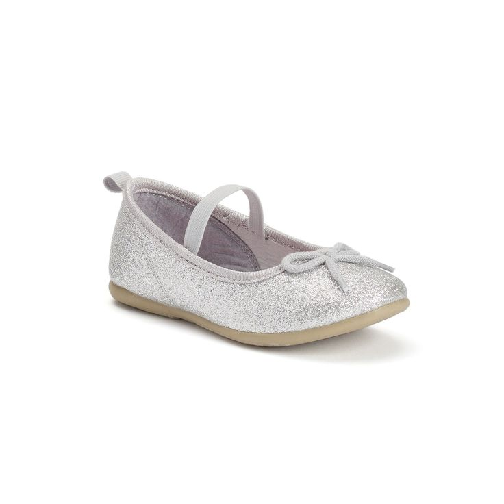 Carter's Ruby 5 Toddler Girls' Flats, Girl's, Size: 10 T, Silver