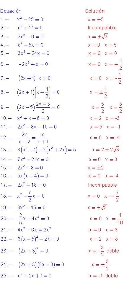 Ejercicios de ecuaciones.                                                                                                                                                     Más