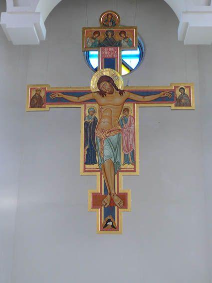 Taldykorgan (Kazakistan) - fasi di installazione della Croce d'altare - Giuliano Melzi - Picasa Web Albums