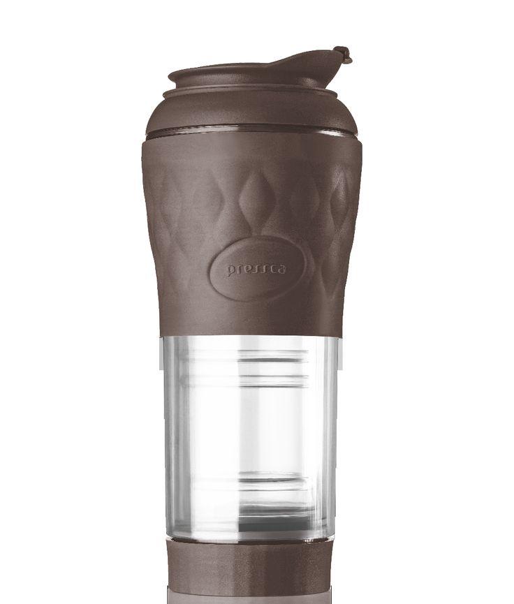 Cafeteira Portátil Pressca – Marrom- 350 ml
