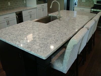 Everest Quartz Countertops Condo Kitchen Remodel