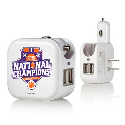Clemson Tigers College Football Playoff 2016 National Champions 2-In-1 USB Charger