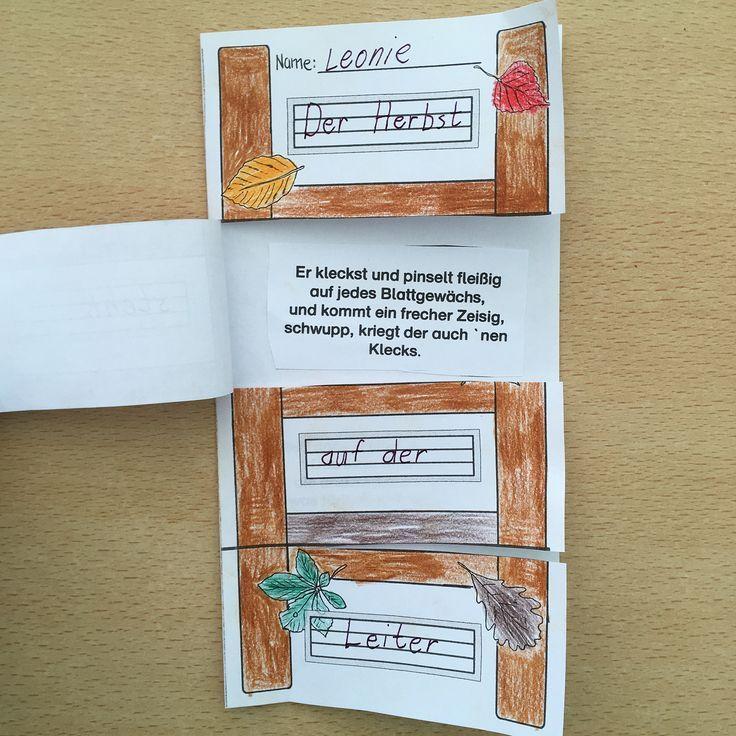 Der Herbst Steht Auf Der Leiter Flipp Flapp Ges Auf Der Flippflapp Ges Herbst Leiter Steht Gedicht Grundschule Grundschule Kunstunterricht