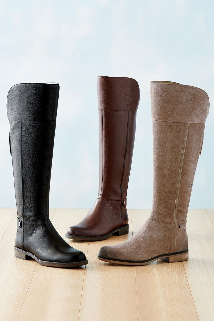 Tumbled Leather Riding Boot by Franco Sarto® | Chadwicks of Boston