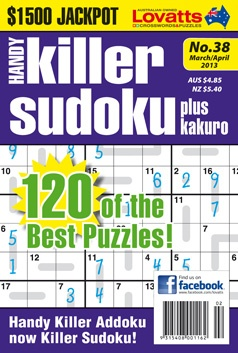 Handy Killer Addoku has been renamed Handy Killer Sudoku commencing with Issue 38. The format, puzzles and pricing of your magazine will remain unchanged.