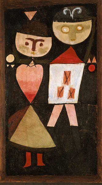 Titre de l'image : Paul Klee - couple costumé