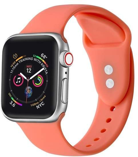 POSH TECH Living Coral Silicone 42mm Apple Watch 1\\u002F2