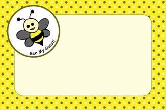 Bee Design Party Invitation © Purple Jungle Designs 2013