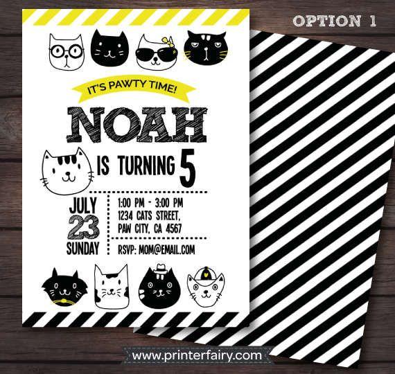 Mira este artículo en mi tienda de Etsy: https://www.etsy.com/es/listing/502397064/invitacion-fiesta-de-cumpleanos-del-gato
