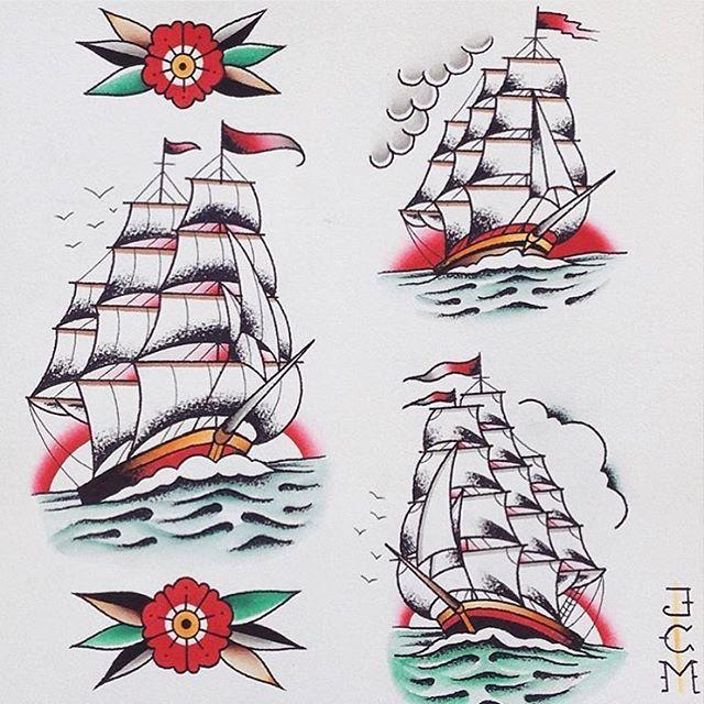 WEBSTA @ traditional_flash - Flash by @jcmflash #trflash#traditional_flash#tattoo#tattooflash#traditional#traditionaltattoo#traditionalflash#tattooart#flash#art#illustration#drawing