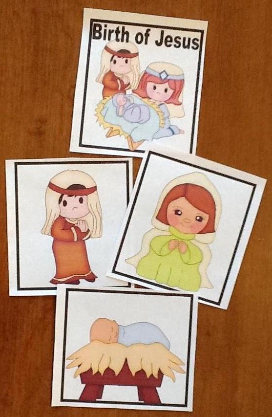 Birth of Jesus Book & Cards printables