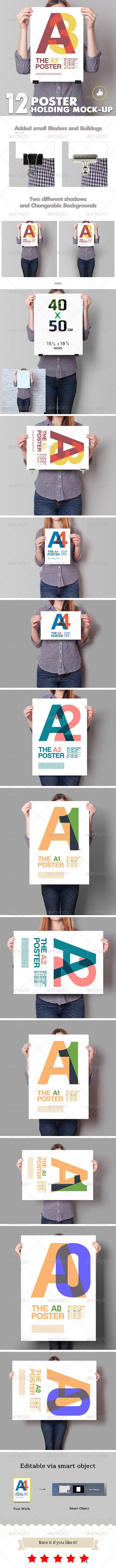 6 poster design photo mockups - Poster Mockup 12 Different Images