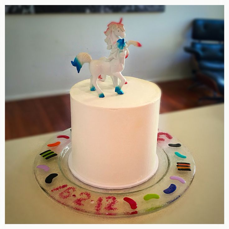Birthday cake. 6 layered multicolour butter cake with ...