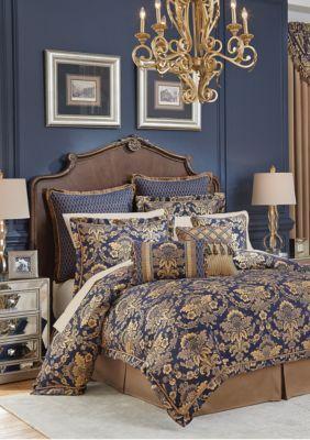 Croscill  Cordero Comforter Set - Dark Blue - Queen