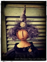 Primitive Halloween Witch Doll ~ Homespun Hugs and Calico Kisses