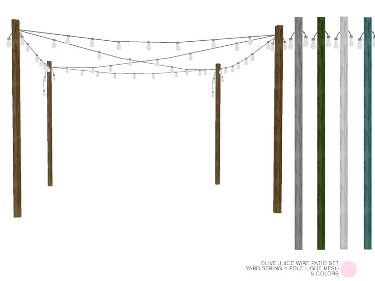 Yard String 4 Pole Light Mesh by DOT of The Sims Resource  Found in TSR Category 'Sims 4 Outdoor Lighting'