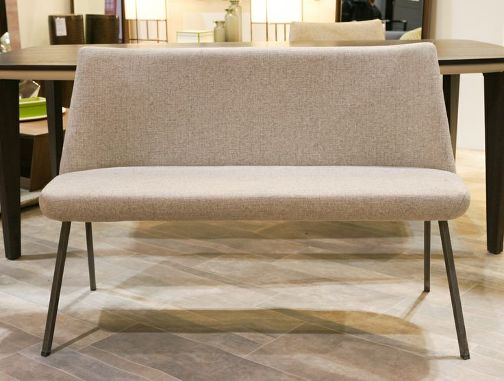 Lola bench. Canadian made. Available in a variety of finishes, sizes, and fabrics. @Home & Garden Events #NationalHomeShow