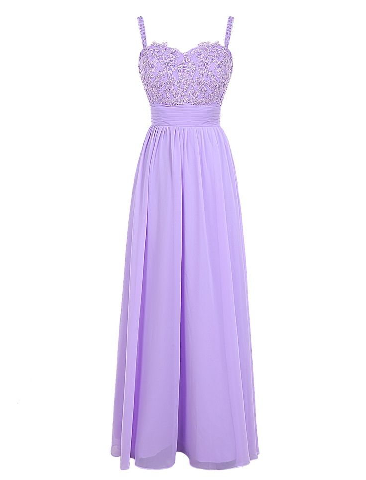 Fashion A-line Spaghetti Straps Floor Length Lilac Prom Dress With Appliques    2016 homecoming dress, sexy bridesmaid dress, fashion evening dress, long party dress, floor length bridesmaid dress, #2016 #long #lilac #sexy
