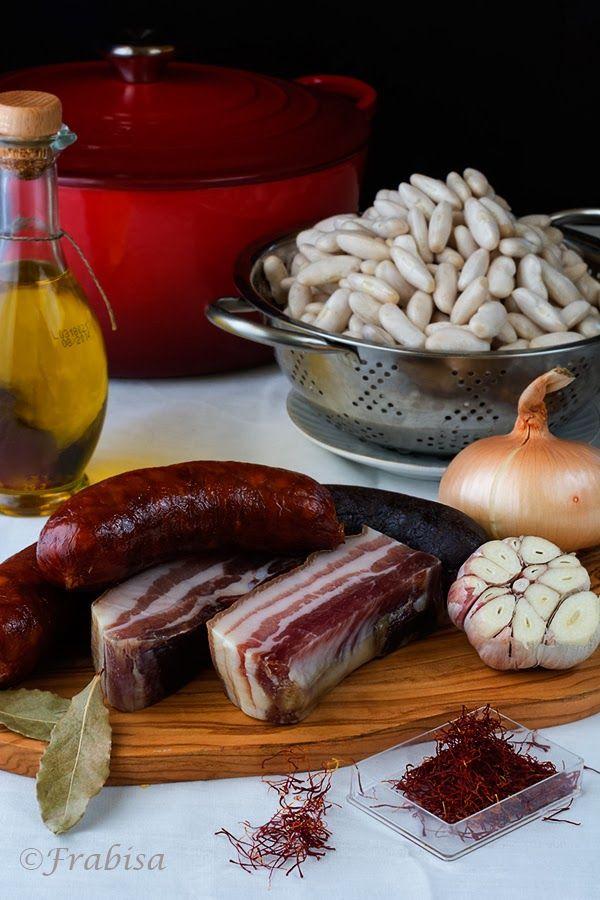fabada, asturias, fabes, fabas, chorizo, tocino, morcilla, guiso, plato de cuchara