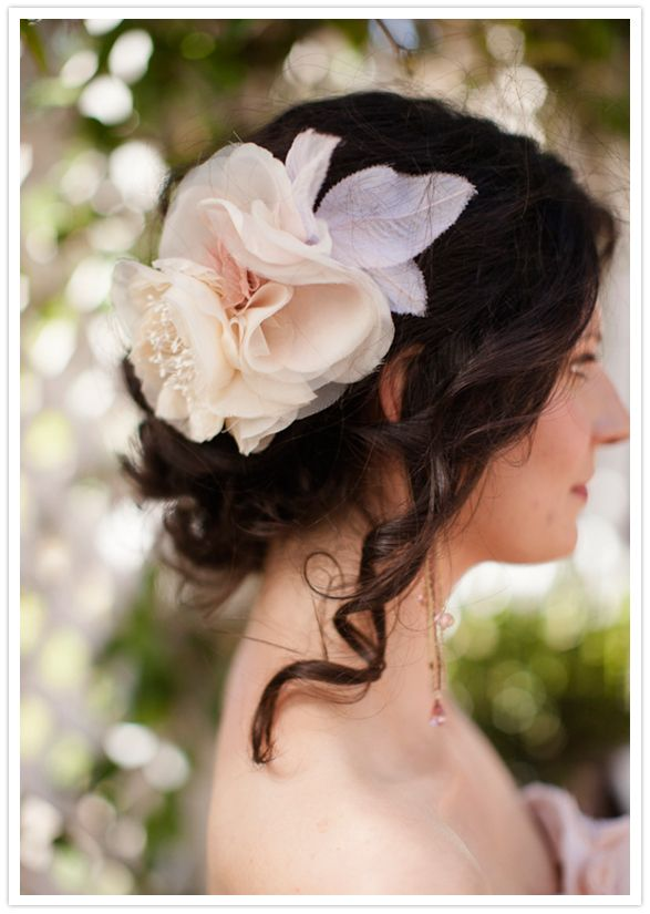 large floral hairpiece