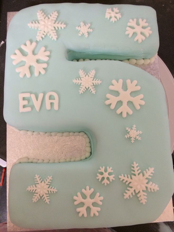 Number 5 cake frozen