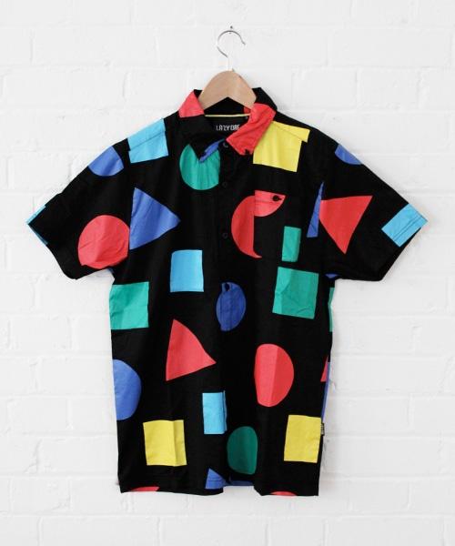 Lazy Oaf Primary Shape Short Sleeve Shirt.