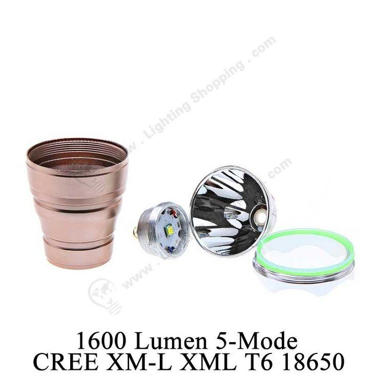 5-Mode CREE XM-L XML T6 18650, Ultrafire Super Bright #LED #FlashLight Torch, 1600Lm, Click >>> http://www.lightingshopping.com/ultrafire-super-brigh-1600-lumen-5-mode-cree-xm-l-xml-t6-18650-led-flashlight-1600lm-torch-lamp-light-brown.html