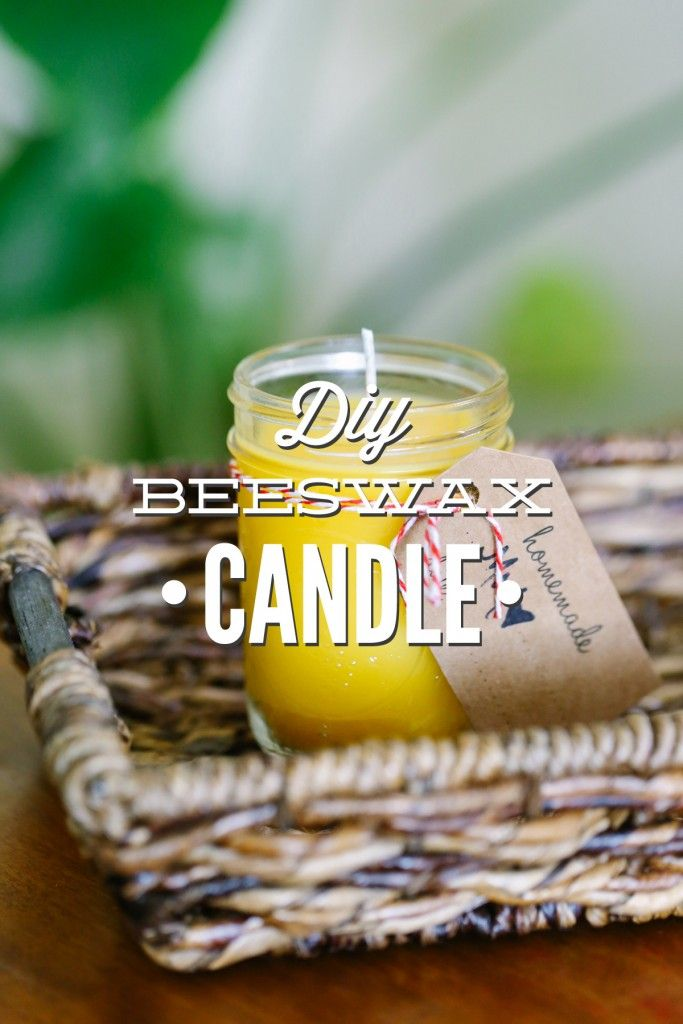 A super easy tutorial that shows you how to make your own homemade beeswax candles. They smell so good and can help clean the air in your home. Add essential oils for a beautiful custom scent.