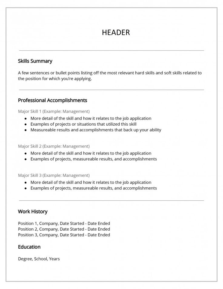 Functional Resume Template Free Download Addictionary in