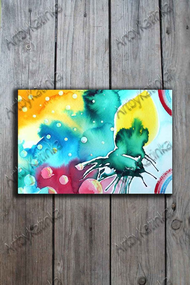 Original Watercolor Painting, Abstract Art,Handmade paint,Bubble,Anniversary, Birhday gift, Wall Art, Home Decor, Painting Art, Paintig Gift by ARTbyKatinka on Etsy