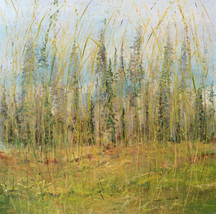 """""""Near Laras House"""" co Mayo, Oil on Canvas 100cmsx100cms"""