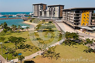 Stock Photo: Darwin City Waterfront modern development