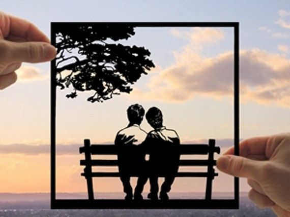 Gay Couple Gay And Benches On Pinterest