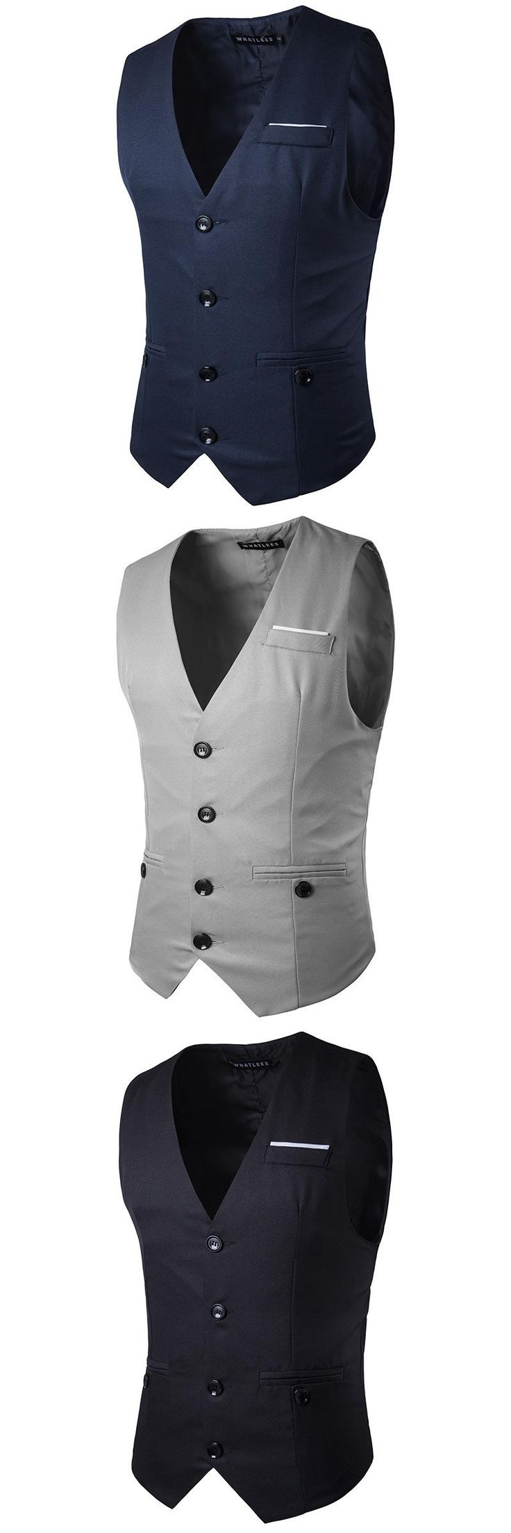 New fashion for men, chest decoration, buttons, gentleman suit, vest