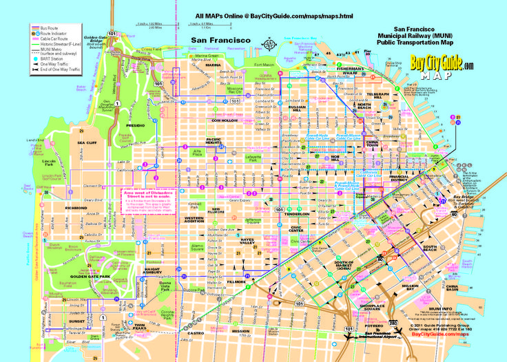 Muni Bus San Francisco Map - San francisco rail map