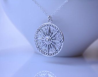 Filigree necklace. Long necklace. Sterling by SassySilverStudio