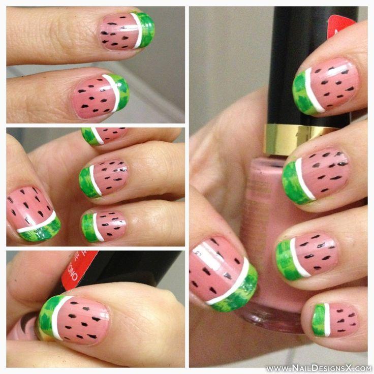 watermelon 1 nail design