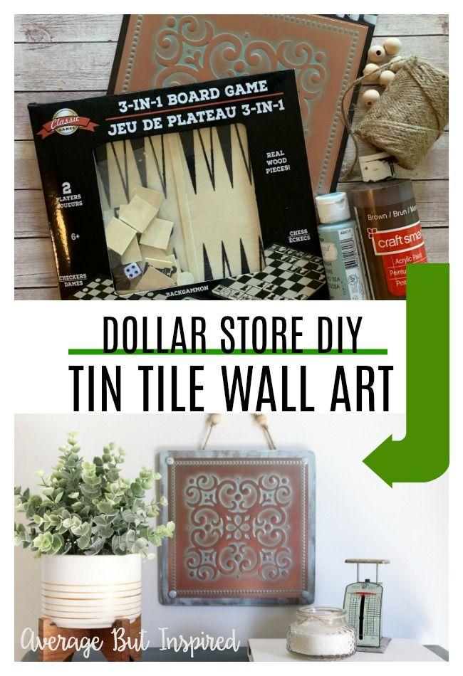 Vintage Tin Tile Wall Art A Dollar Tree Diy
