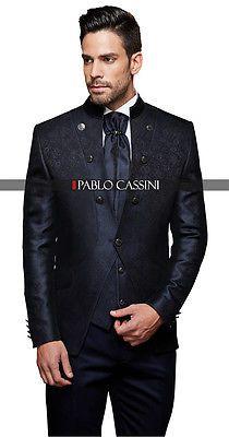 Pablo Cassini Designer Men's Suit - Navy Wedding Suit NEW PC _26